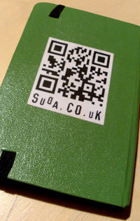 QR Code on the back of my notebook