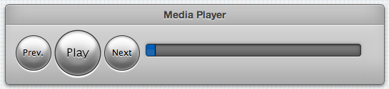 A screenshot of a CSS3 media player UI example