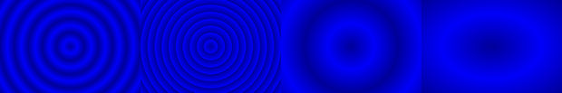 Repeating radial gradient examples
