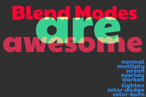 Getting to Know CSS Blend Modes
