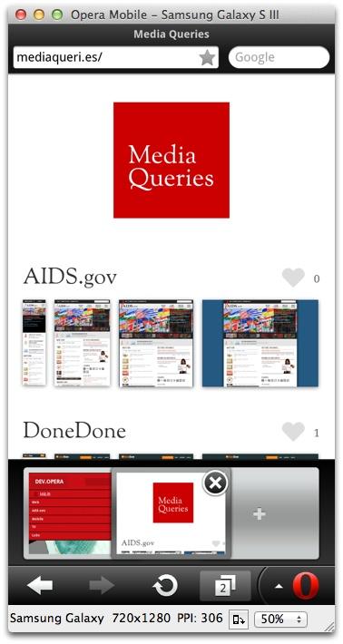 Dev Opera — Opera Mobile Emulator for Desktop