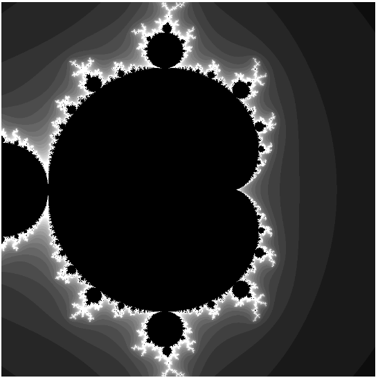 A canvas generated fractal