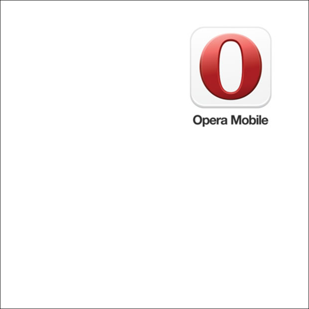 A single Opera logo rendered on a canvas