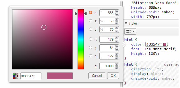 The new and improved color picker dialog window