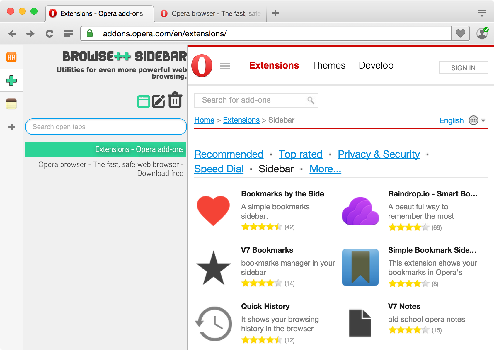 New in Opera: Sidebar extensions | Opera forums