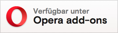 Opera add-ons badge in German