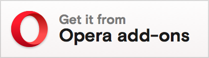 Opera add-ons badge