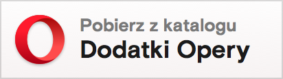 Opera add-ons badge in Polish