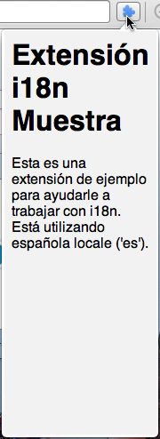 Popup in Spanish